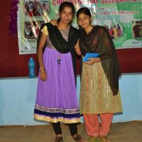 AnyPriya receives prize from caregiver Reka