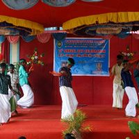 Boys dance for traditional cultural song