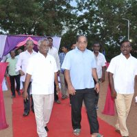 Chief guest and others walk to the Main Stage