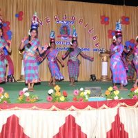 Our girls perform a dance called Karagattam