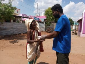delivering food to the hungry