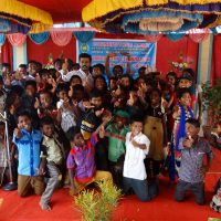 Some of DKSHA children with chief guest